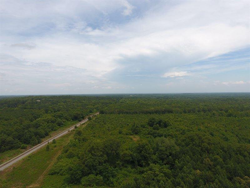 60.74 Acres -Recreation Or Timber : Barnesville : Lamar County : Georgia