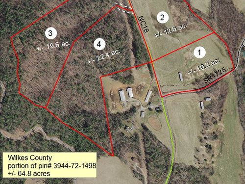 64.8+/- Acres Located -Mcgrady,Nc : McGrady : Wilkes County : North Carolina