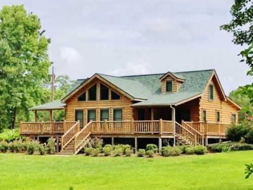 Log Cabin Home For Sale 110 Acres : Union Church : Jefferson County : Mississippi