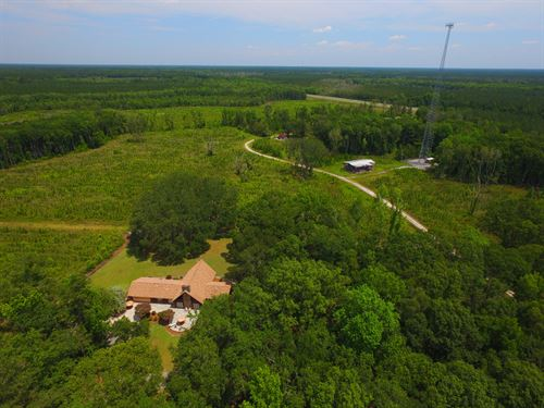 90 Acres With Home, Income Potentia : Jesup : Wayne County : Georgia