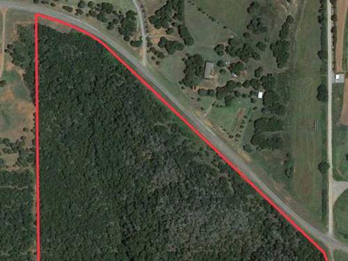 33 Acres of Solid Woods, Borders : Cogar : Caddo County : Oklahoma