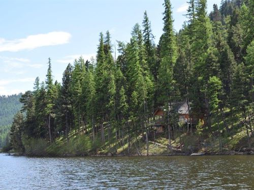 Amazing Lakefront Privacy On Salmon : Seeley Lake : Missoula County : Montana