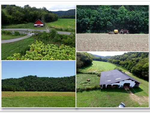 308 Ac, Home, Barns, Ponds, Creeks : Whitleyville : Jackson County : Tennessee