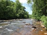 Big Frontage On Swift Creek : Thomaston : Upson County : Georgia