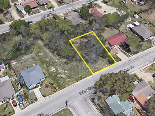 Residential Neighborhood Lot : San Antonio : Bexar County : Texas