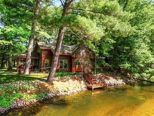 Awesome River Front With Bungalow : Manisteet : Manistee County : Michigan