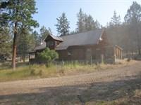 Log Home On 40 Acres : Bonanza : Klamath County : Oregon