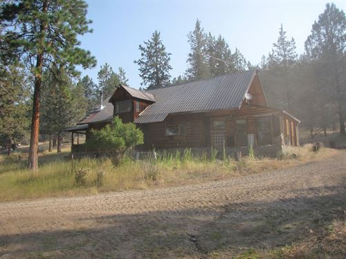 Log Home On 40 Acres : Bonanza : Klamath County : Oregon