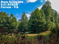 9.23 Acres Near Blue Ridge Parkway : Ferrum : Franklin County : Virginia