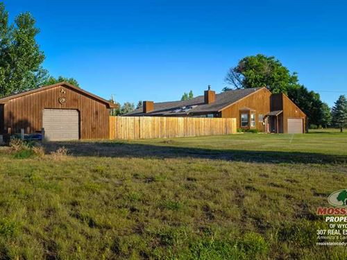 Four Bedroom, Two Bath Home on 2.3 : Cody : Park County : Wyoming
