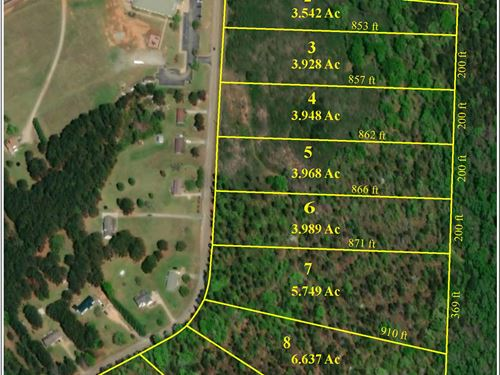 3-6 Acre Building Sites : Jackson : Butts County : Georgia