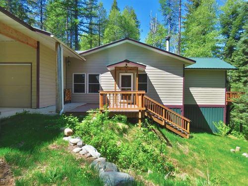 House On Acreage With Lake Access : Columbia Falls : Flathead County : Montana