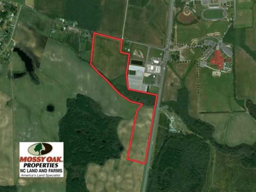33.9 Acres of Commercial Land For : Richlands : Onslow County : North Carolina