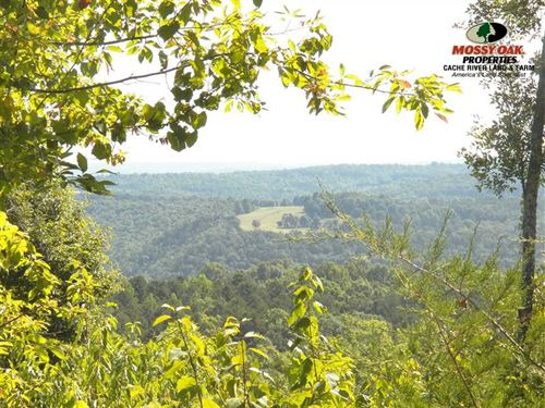 47 Acres Beautiful Views $70,000 : Clinton : Van Buren County : Arkansas