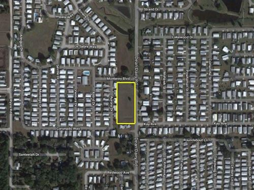 Cleared Commercial Lot : Zephyrhills : Pasco County : Florida