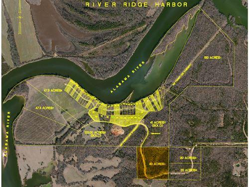 40 Ac, River Ridge Harbor : Montgomery : Alabama
