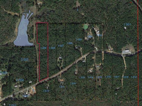 Lot 11, 8.14 Acres : Wetumpka : Elmore County : Alabama