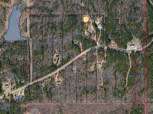 Lot 10, 6 Acres : Wetumpka : Elmore County : Alabama