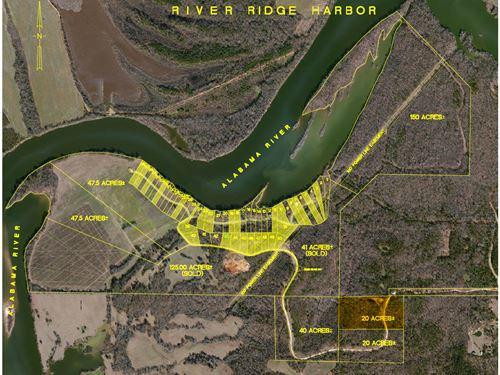 River Ridge Harbor-North-20 Acres : Montgomery : Alabama