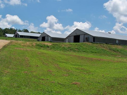 Grigsby Farm, 4 House Broiler Farm : Boaz : Etowah County : Alabama