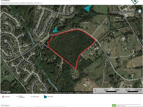 34 Ac. Residential Development Site : Greer : Spartanburg County : South Carolina