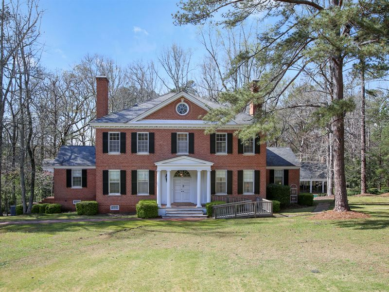 Excellent Classic Beauty On 13 Acres Land For Sale Forsyth Monroe County Georgia Interior Design Ideas Skatsoteloinfo