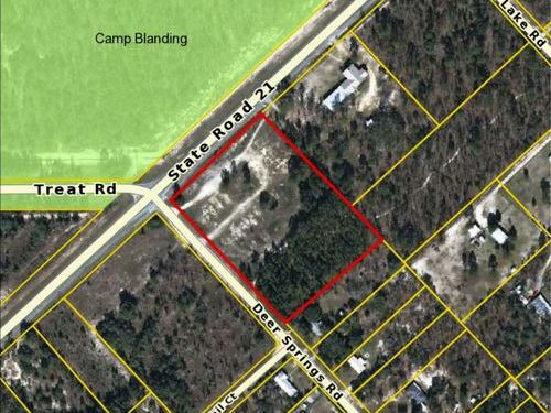 Prime Commercial Site : Keystone Heights : Clay County : Florida