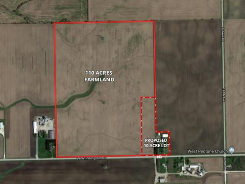 110 Acres Wilton Township Farm : Peotone : Will County : Illinois
