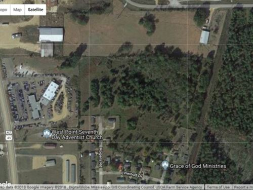 Platted 17.3 Acres Joins Northgate : West Point : Clay County : Mississippi