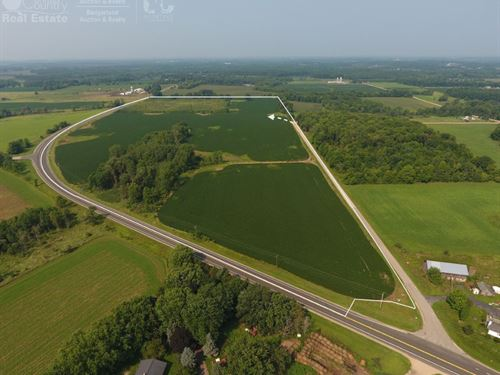 Cropland For Sale In Central Wis : New London : Waupaca County : Wisconsin