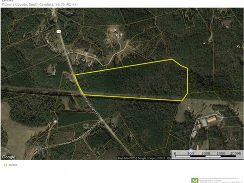 56 Acres With Mountain Views : Pickens : South Carolina