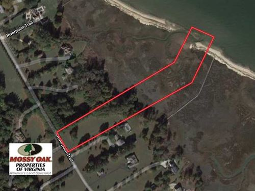 Reduced, 7 Acres of Waterfront LA : Carrollton : Isle Of Wight County : Virginia