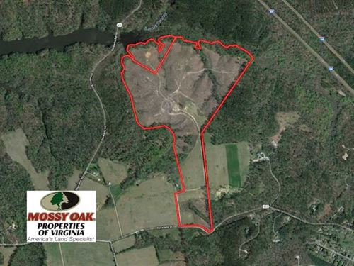 118 Acres of Residential Hunting : Toano : James City County : Virginia