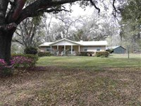 Beautiful Land With 3Br/2Ba Home : Madison : Madison County : Florida