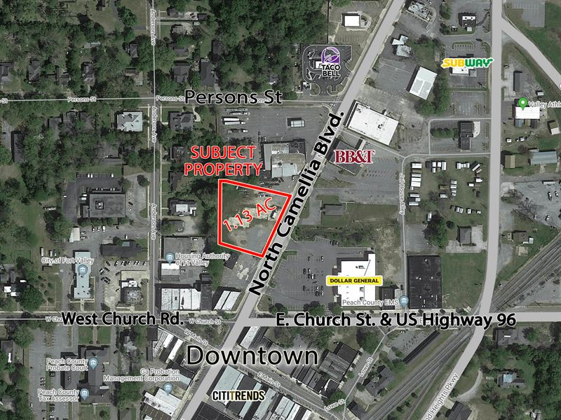 1.13 Commercial Acres In Ft. Valley : Fort Valley : Peach County : Georgia