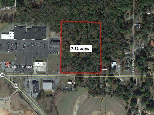 Great 7.81 Acre Commercial Lot : Montezuma : Macon County : Georgia