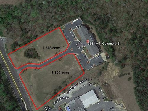 2 Prime Commercial Outparcels : Milledgeville : Baldwin County : Georgia