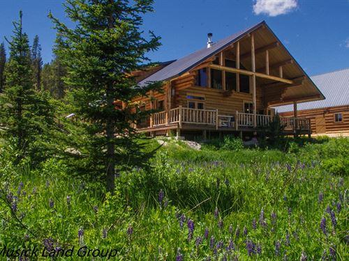 Log Cabin Located in Dixie, Idaho : Dixie : Idaho County : Idaho