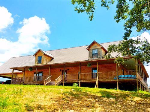 Log Home In Northeast Arkansas : Ravenden : Randolph County : Arkansas