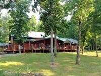 Lodge Style Home 130 Acres Ozarks : Ravenden : Sharp County : Arkansas