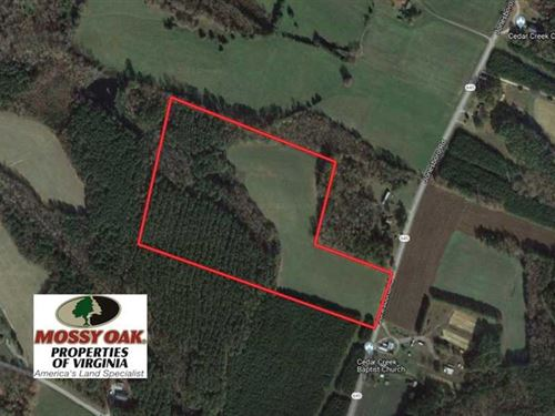 25 Acres of Recreational Land For : Kenbridge : Lunenburg County : Virginia