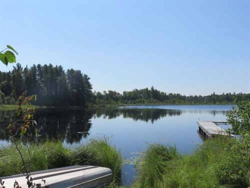 Private Lake With 166 Acres : Mercer : Iron County : Wisconsin
