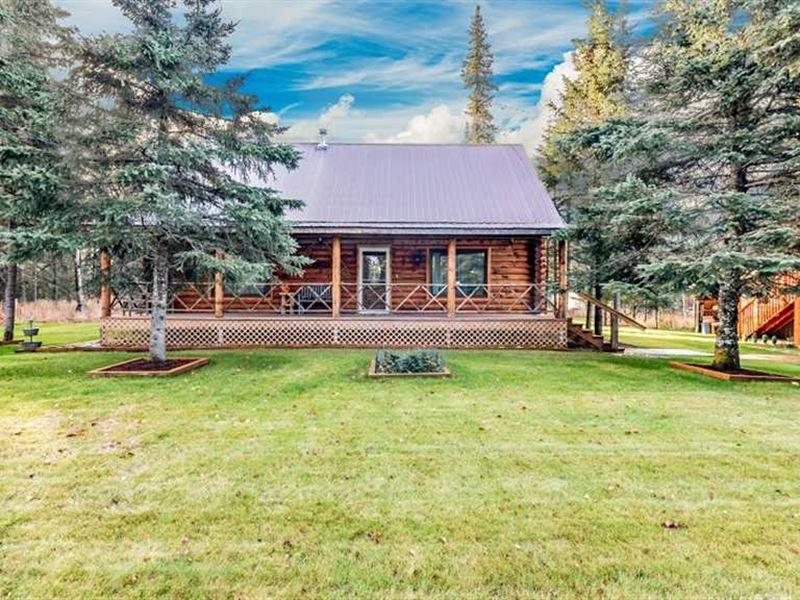 Log Home On.92 Meticulously Lands : Kenai : Kenai Peninsula Borough : Alaska