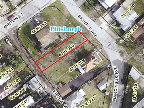 City Lot For Sale In Allegheny, Pa : Pittsburgh : Allegheny County : Pennsylvania