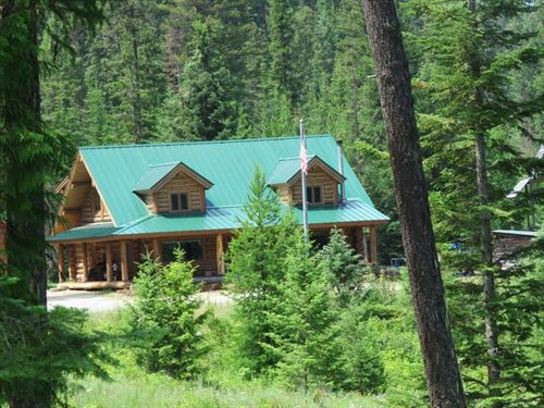 5 Mile Log Home : Libby : Lincoln County : Montana