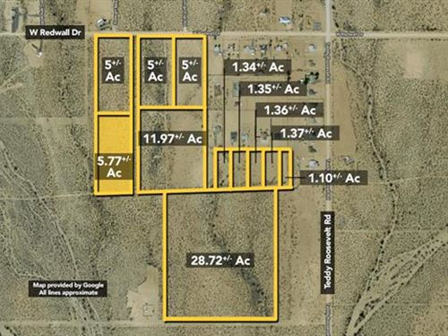 Land, Approx 5.77Ac Lot : Golden Valley : Mohave County : Arizona