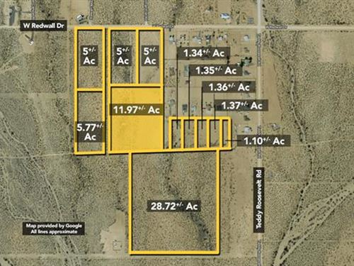 Land, Approx 11.97Ac Lot : Golden Valley : Mohave County : Arizona