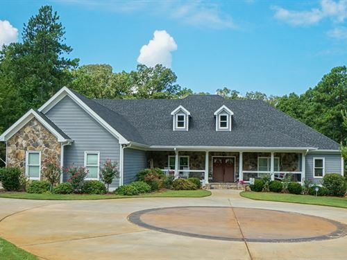 Spectacular River Front Home : Forsyth : Monroe County : Georgia