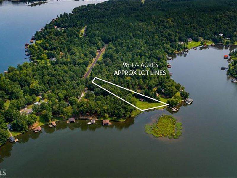 Lake Sinclair Lot W/ Max Dock : Land for Sale : Sparta : Hancock County :  Georgia