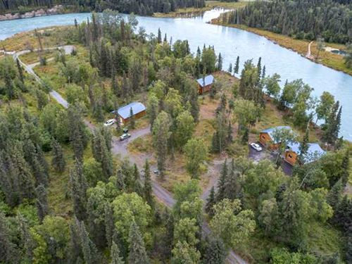 River Front Home And Cabins Has : Kasilof : Kenai Peninsula Borough : Alaska